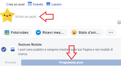 post programmato facebook