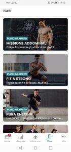 Adidas piani allenamento per ginnastica in casa