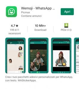 creare sticker per whatsapp - installa da playstore