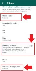 Whatsapp nascondere online